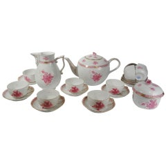 """Herend """"Chinese Bouquet"""" Large Tea Set 1976"""