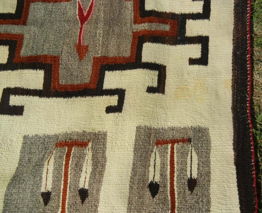 Oversize Navajo Klagetoh Trading Post Vintage Rug In Rare