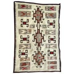 Oversize Navajo Klagetoh Trading Post Vintage Rug in Rare Design