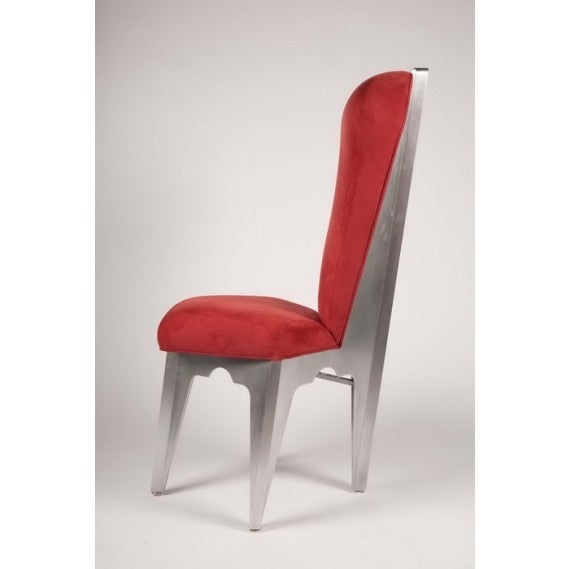Post-Modern Diamond Spine Sculptural Aluminum Side Chair by Bilhenry Walker For Sale