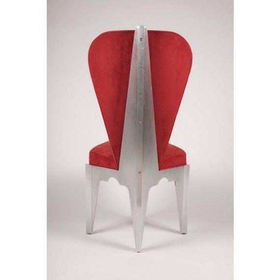 American Diamond Spine Sculptural Aluminum Side Chair by Bilhenry Walker For Sale