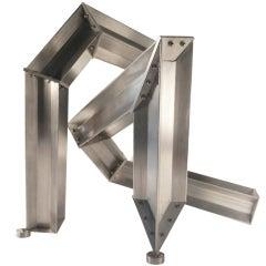 Tioga Tabletop Sculpture in Aircraft Aluminum by Bilhenry Walker
