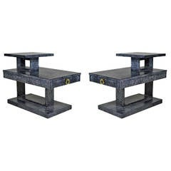 Limed Oak Tiered Side or End Tables