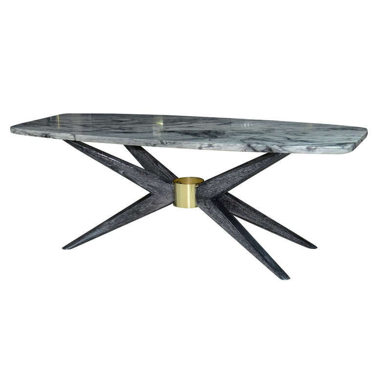 """Italian Marble Coffee Or Cocktail Table For Sale At 1stdibs: Italian Marble Top """"Sputnik"""" Coffee / Cocktail Table At"""