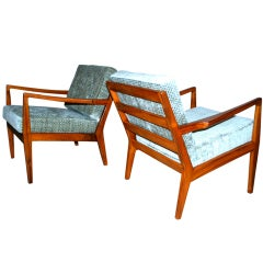 Mid-century Arm Chairs and Ottoman after Carlo Di Carli