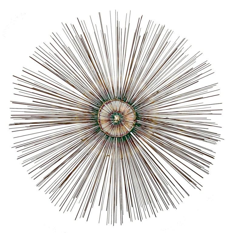 44 copper sunburst wall sculpture at 1stdibs for Sunburst wall art