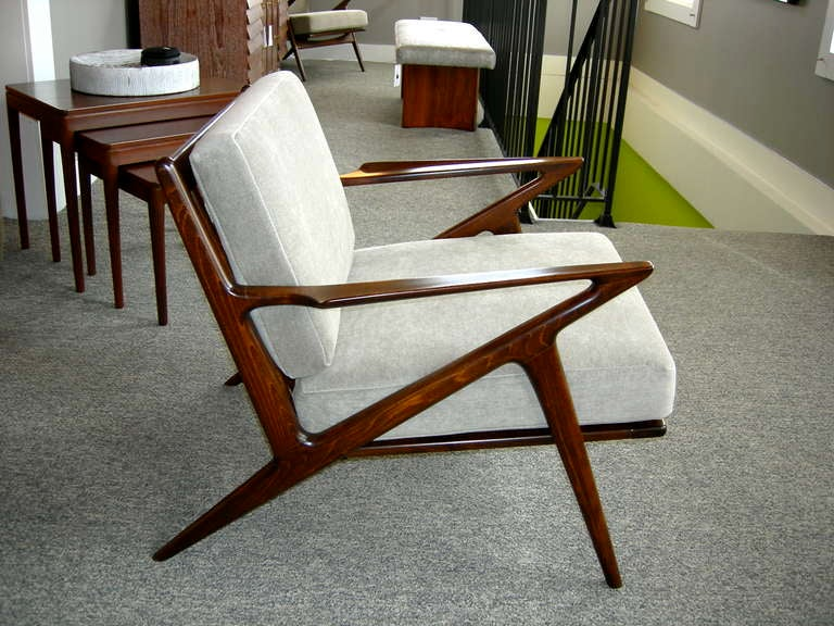 Poul jensen for selig z chairs at 1stdibs - Selig z chair for sale ...