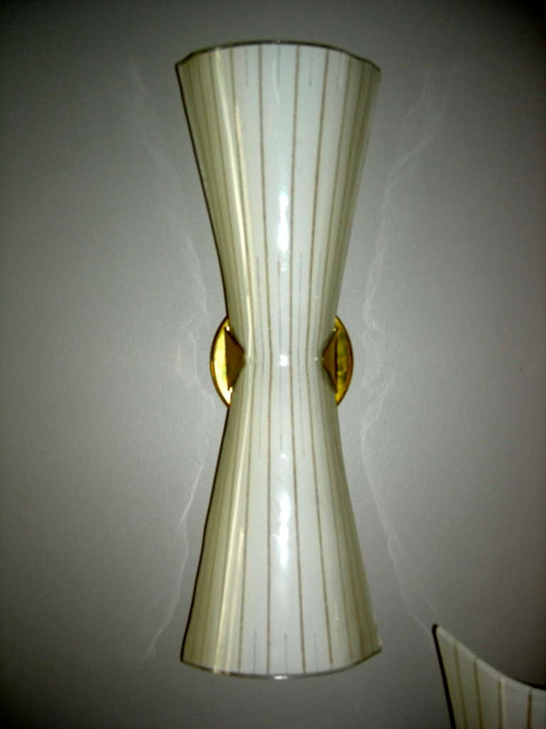 Wall Sconces Blown Glass : Set of Italian Hand Blown Glass Sconces at 1stdibs