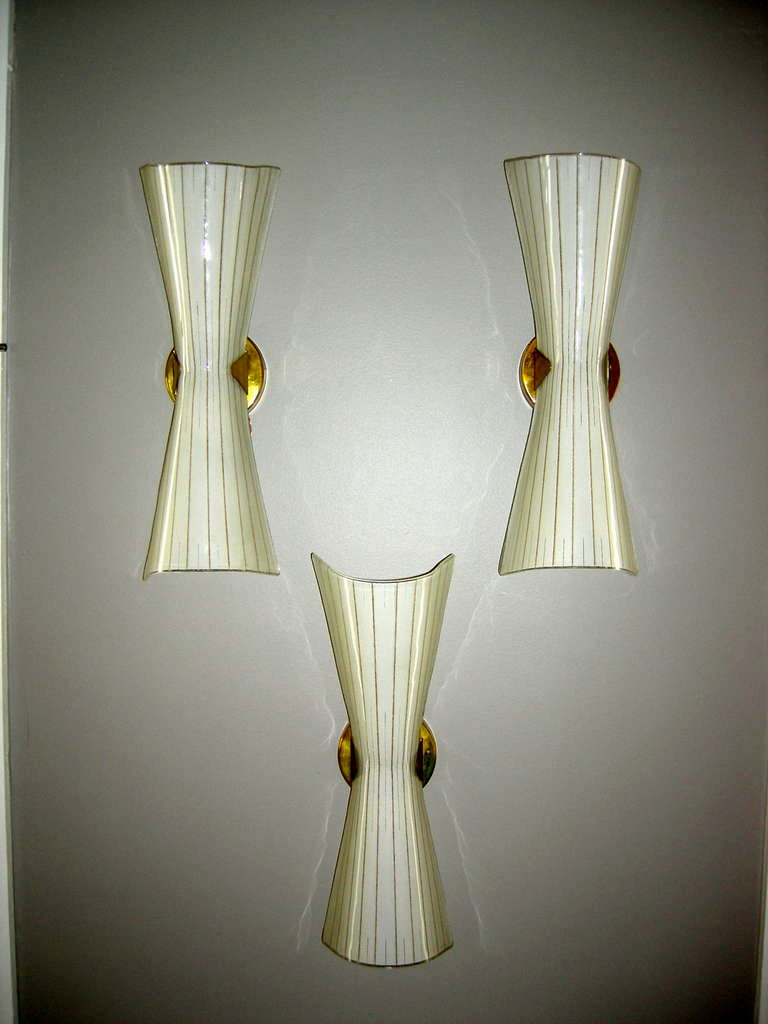Blown Glass Wall Sconces Lighting : Set of Italian Hand Blown Glass Sconces at 1stdibs