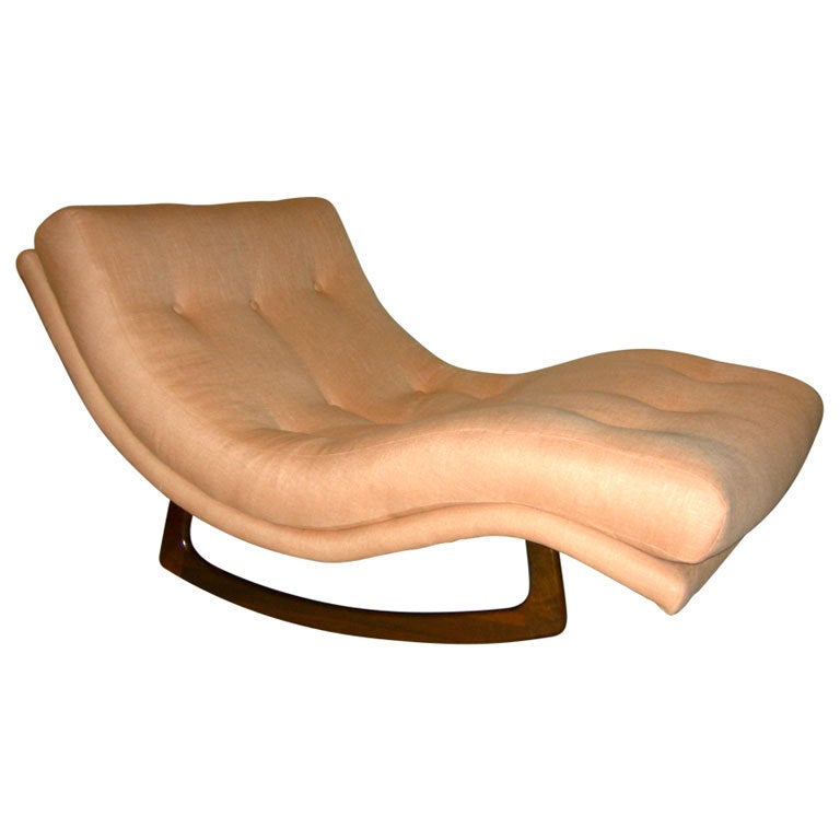 rocking chaise longue by adrian pearsall at 1stdibs