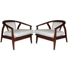 Pair of Lounge Chairs after Vladimir Kagan