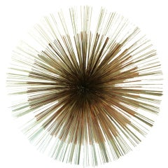 Colossal Sunburst Wall Sculpture by Curtis Jere