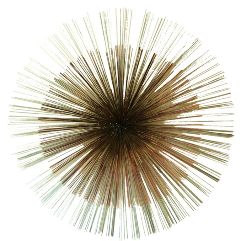 Colossal Sunburst Wall Sculpture by Curtis Jere 1