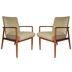 A Pair of Sculptural Arm Chairs Designed by Stow Davis