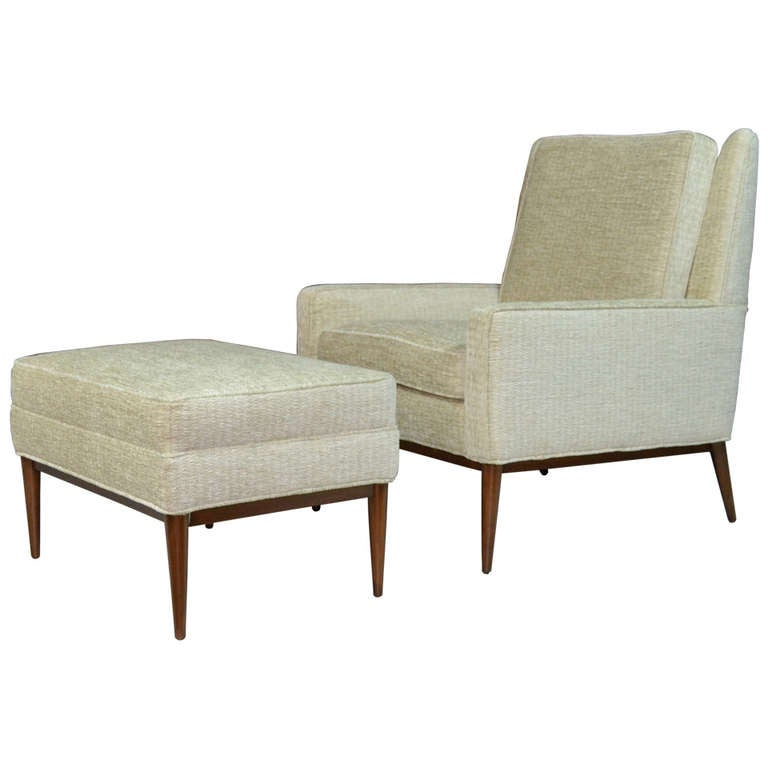 Paul McCobb for Directional Lounge Chair and Ottoman at