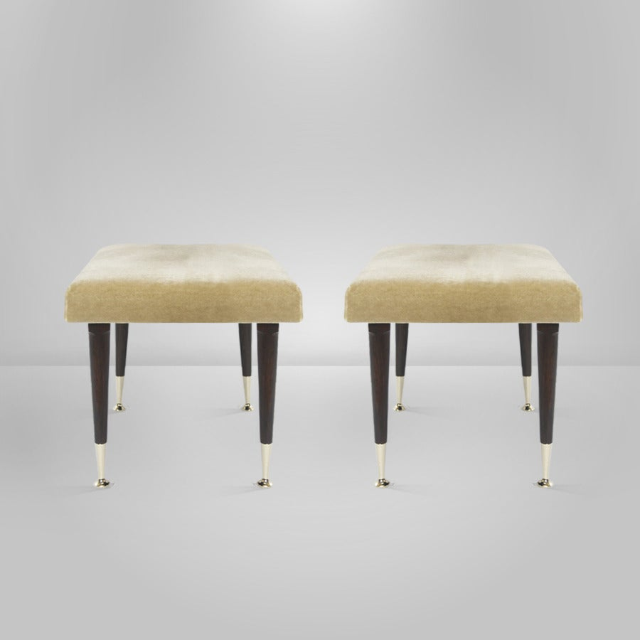 Mid-Century Modern Modernist Stools by Edmond J. Spence For Sale