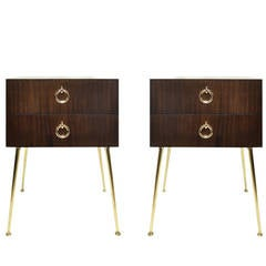 """Pair of """"Gibby"""" Side Tables or Nightstands, SM Originals"""