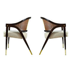 """A-Frame"" Armchairs by Edward Wormley for Dunbar"