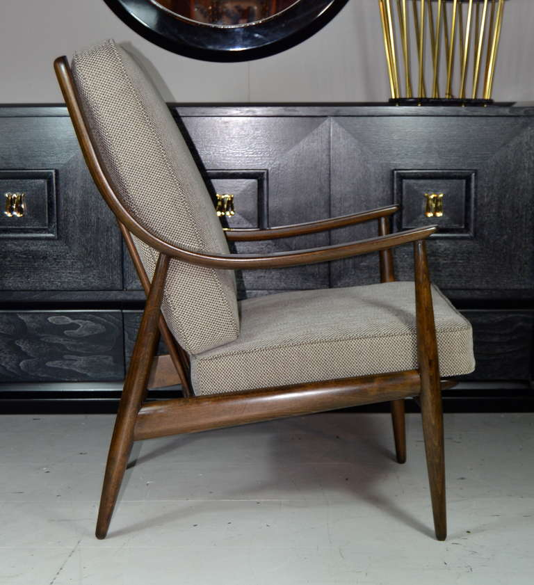 Peter hvit highback library lounge at 1stdibs - Library lounge chairs ...