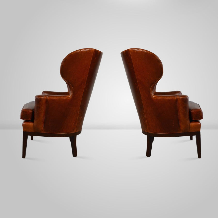 Early wingback chairs by edward wormley for dunbar circa 1940s at 1stdibs - Edward wormley chairs ...