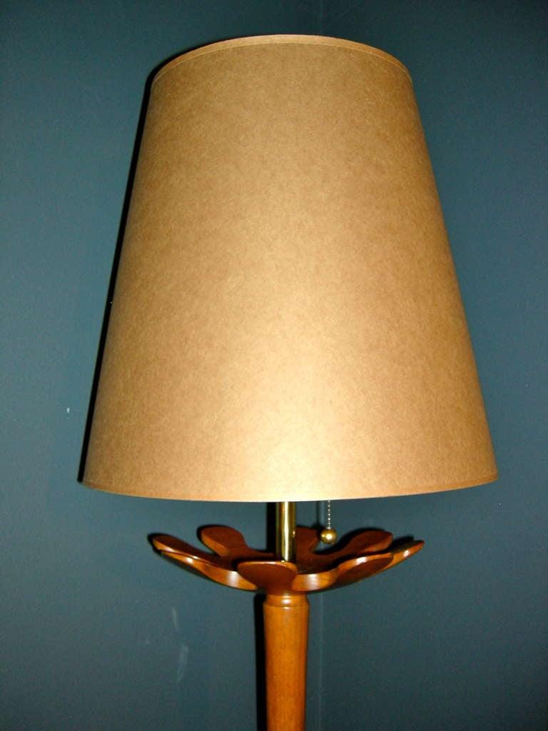 Danish Modern Tall Teardrop form, Teak Table Lamp For Sale ...