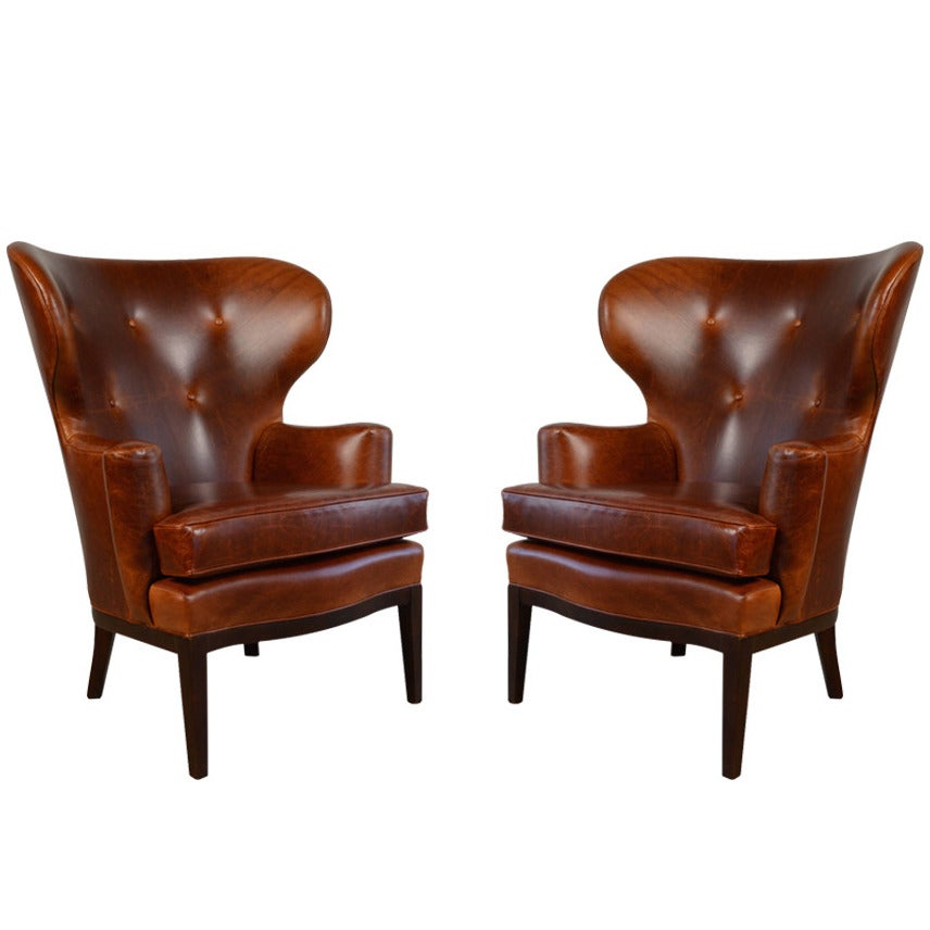 Early Wingback Chairs By Edward Wormley For Dunbar Circa