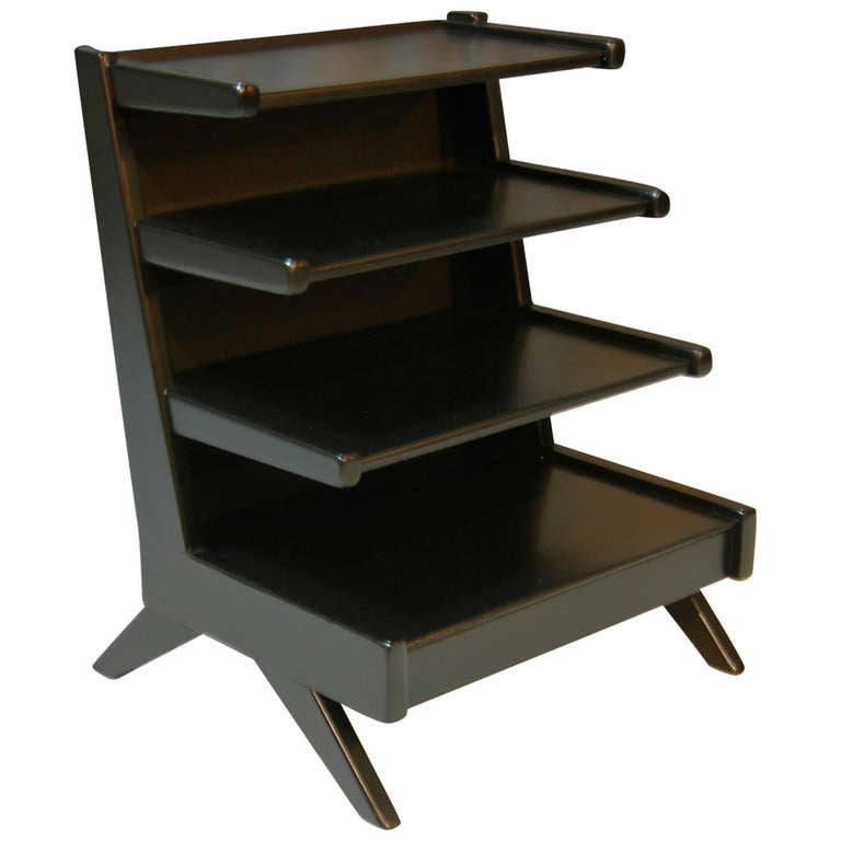 Ebonized magazine tree edward wormley at 1stdibs for 13 a table magasin