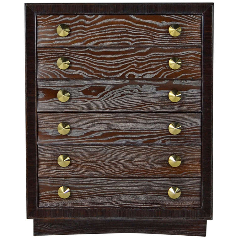Cerused Gentleman's Chest by Paul Frankl for Brown Saltman 1