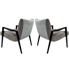 Pair of Winged-arm Lounge Chairs after Robsjohn-Gibbings