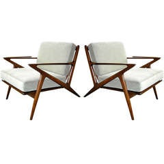 """Poul Jensen for Selig """"Z"""" Chairs"""