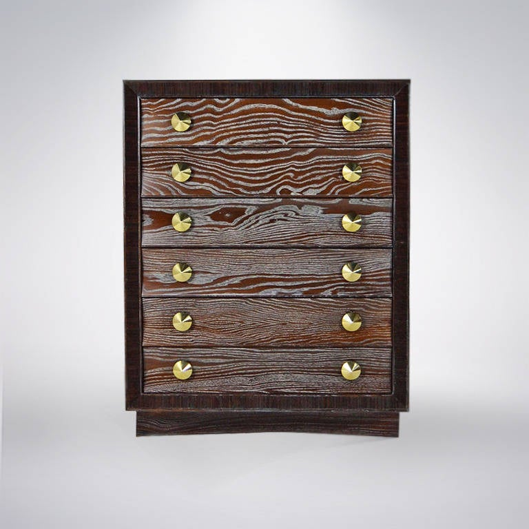Cerused Gentleman's Chest by Paul Frankl for Brown Saltman 2