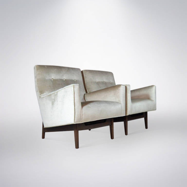 Pair Of Floating Lounges By Jens Risom At 1stdibs