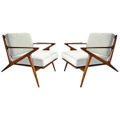 """Pair of """"Z"""" Lounge Chairs by Poul Jensen for Selig"""