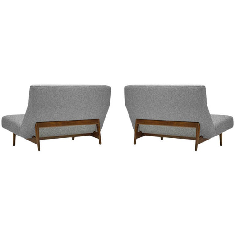 Pair Of Settees Or Loveseats By Jens Risom Model U 251