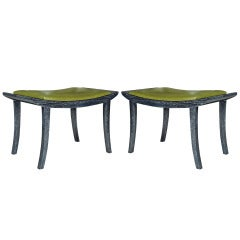 Danish Modern Wegner Style Cerused Benches