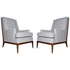 Pair of High Back Lounge Chairs in the Manner of T.H. Robsjohn-Gibbings