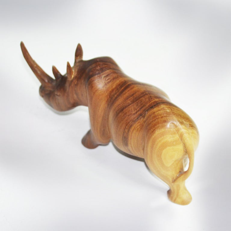 1950s Teak Rhinoceros Sculpture 3