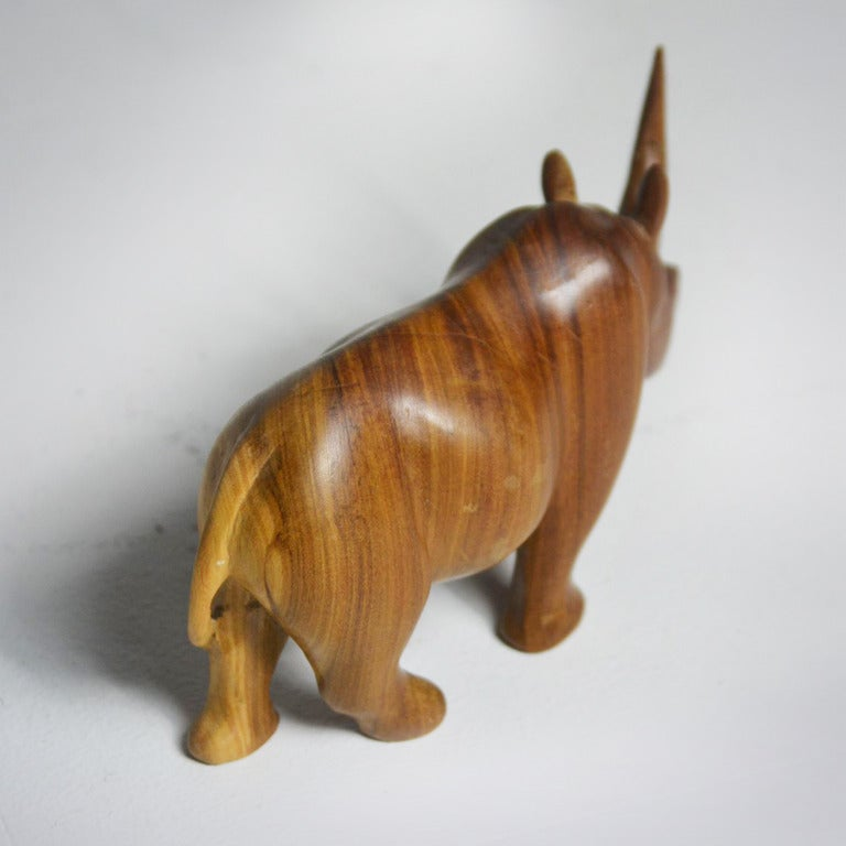 1950s Teak Rhinoceros Sculpture 5