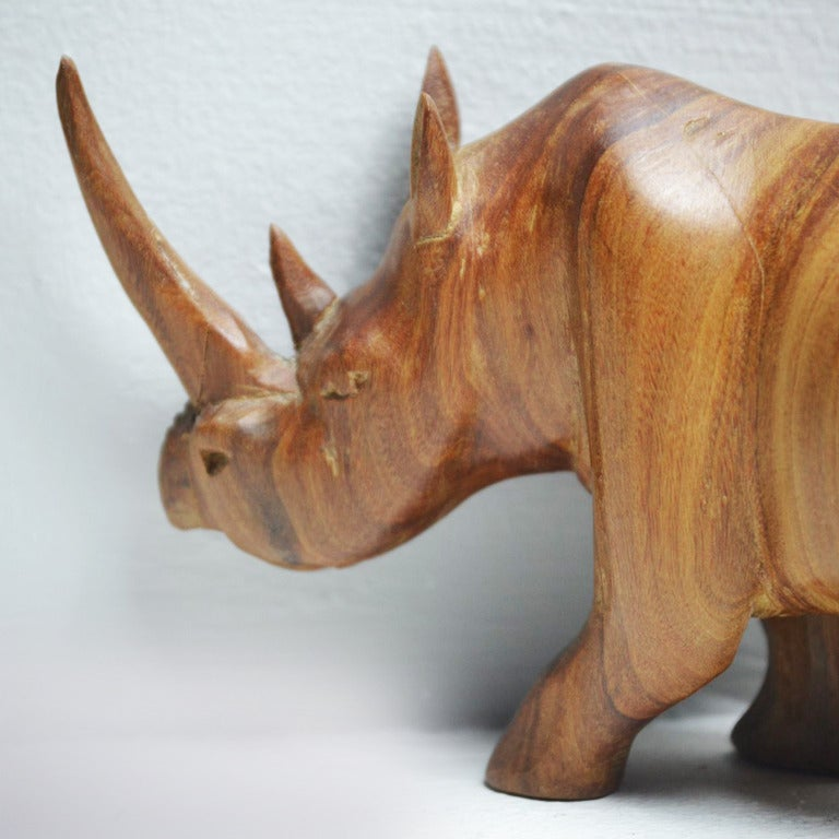 1950s Teak Rhinoceros Sculpture 6