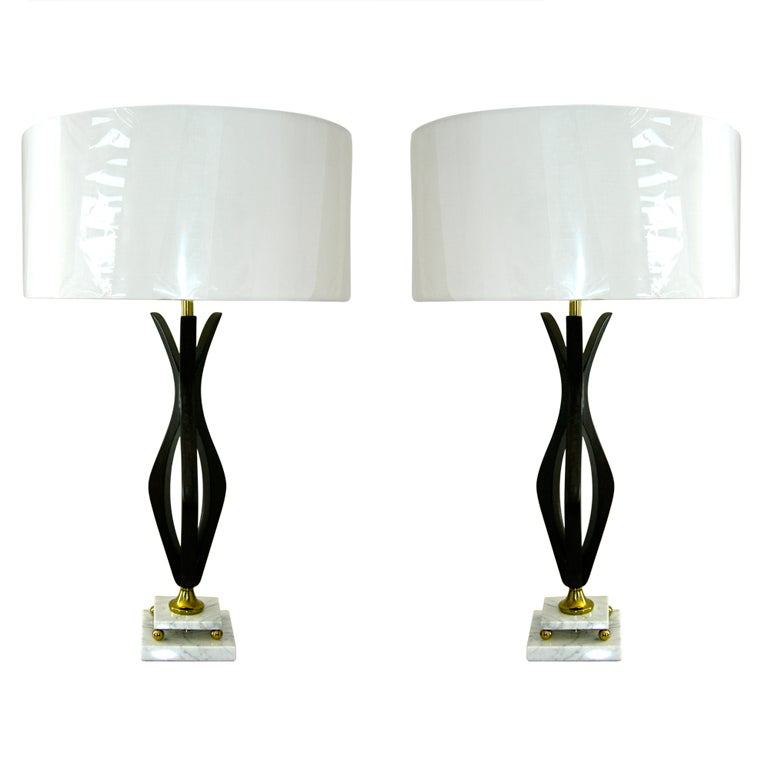 ebonized kagan style marble base table lamps is no longer available. Black Bedroom Furniture Sets. Home Design Ideas