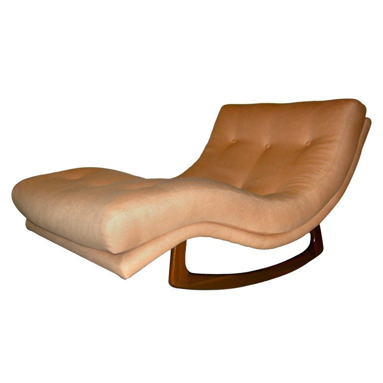 Apricot rocking chaise lounge adrian pearsall at 1stdibs for Adrian pearsall rocking chaise