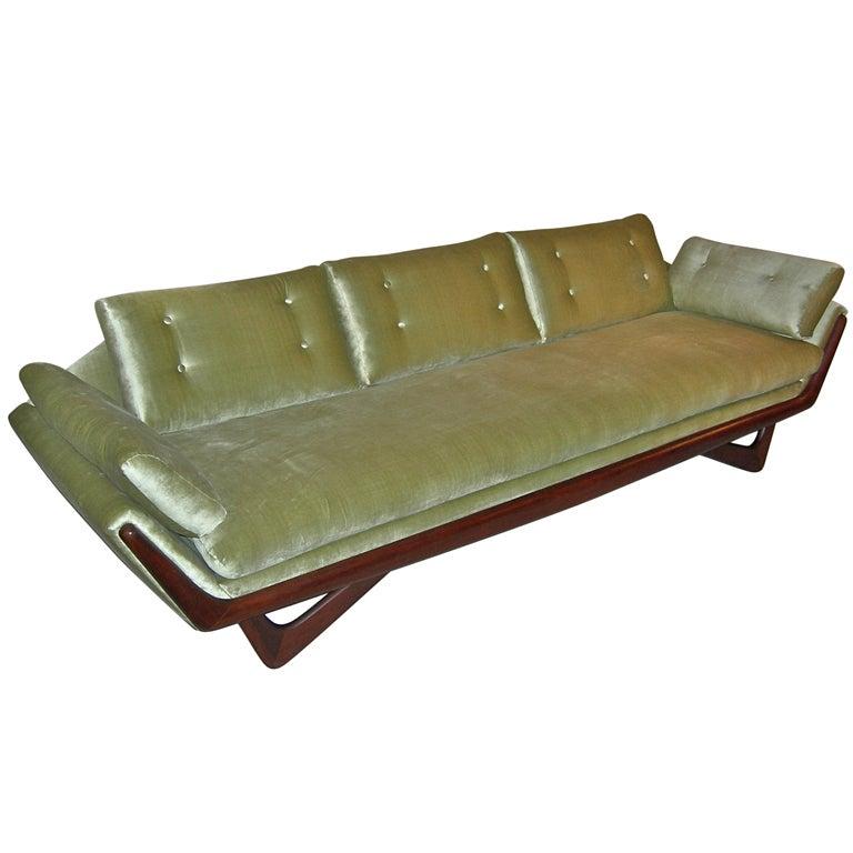104 quot  sculptural velvet sofa adrian pearsall at 1stdibs adrian pearsall sofa for sale adrian pearsall sofa virginia