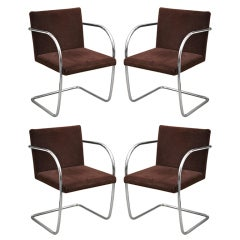 Set of Four Brno Style Chairs