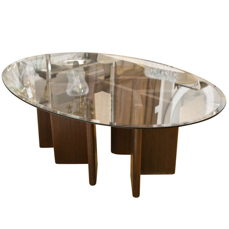 Vintage Oval Cocktail Coffee Table At 1stdibs