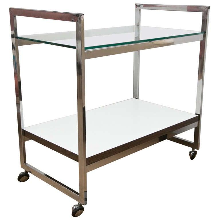 mid century modern bar cart at 1stdibs. Black Bedroom Furniture Sets. Home Design Ideas