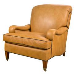 Leather Club Chair by Edward Ferrell