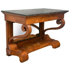 Period Charles X Marble Top Console