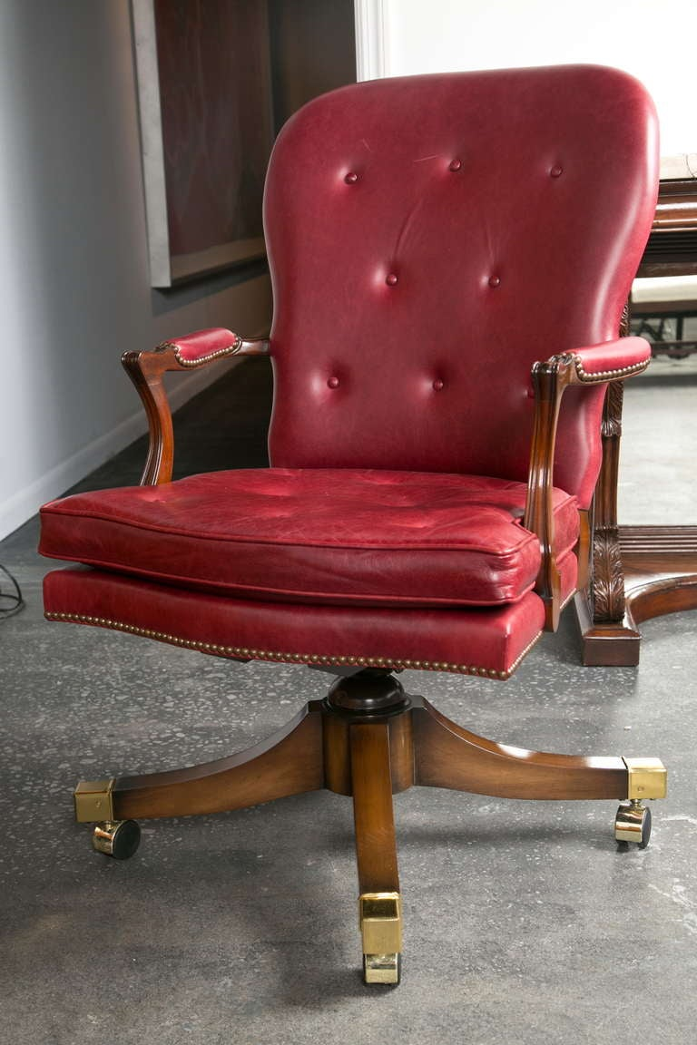 Fine Vintage Leather Desk Chair At 1stdibs