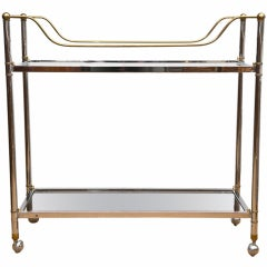 Early 1970's Galleried Bar Cart