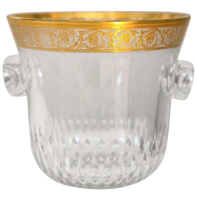 Saint-Louis Thistle Crystal Ice Bucket
